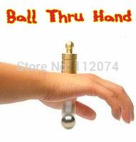 Ball Thru Hand - trick,tube magic Magic trick classic toys,magic accessories,prop,gimmick,free shipping