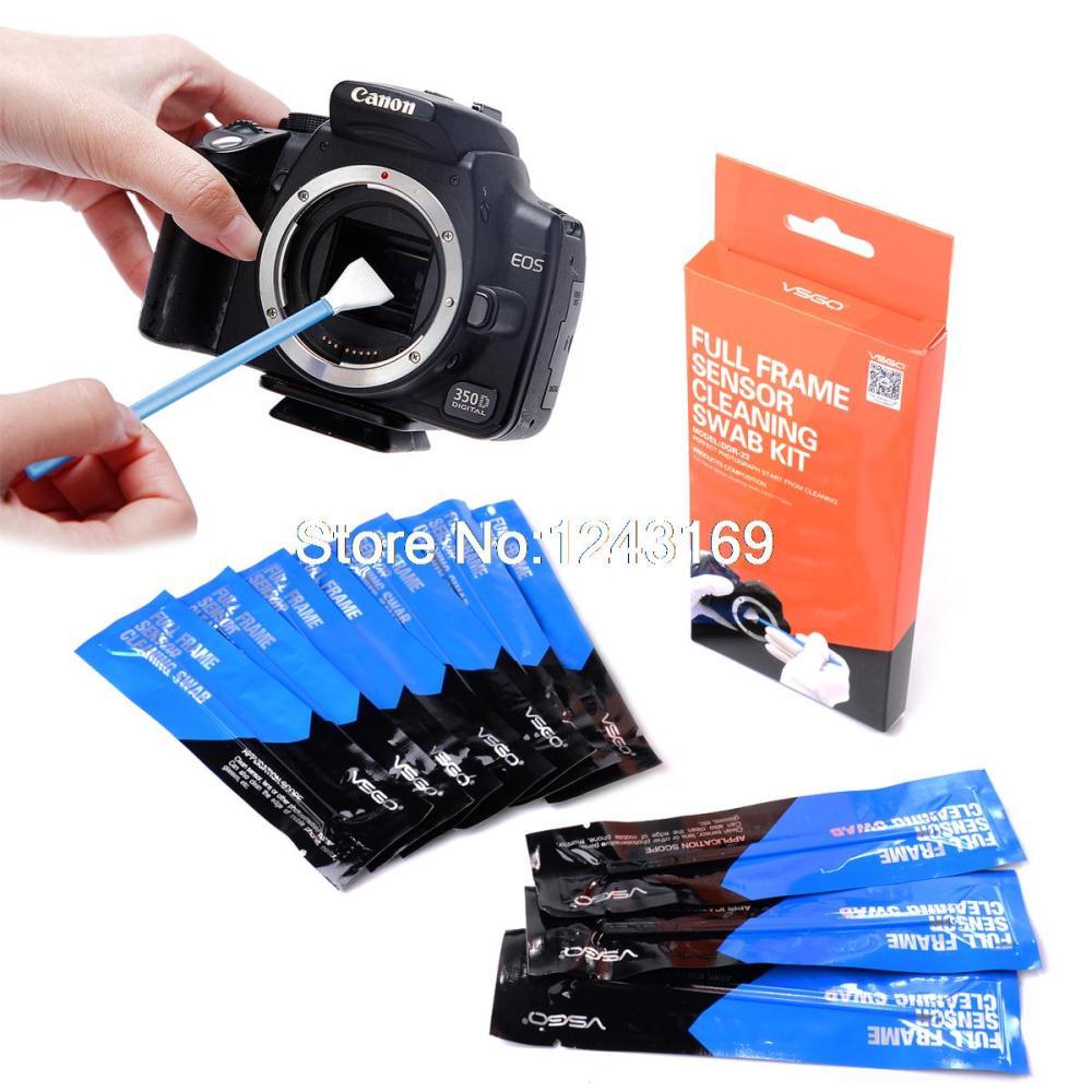 Xcsource 10PCS Professional Full Frame Sensor Cleaning Swab Kit For Digital SLR Camera Canon Nikon Sony Pentax DC581(China (Mainland))