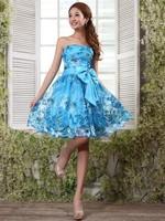 free shipping 2015 new short graduation dresses pink flower girl dresses strapless homecoming dresses