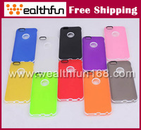 free DHL shipping for apple iphone 6 plus case two material TPU+PC design mobile phone case various colors 100pcs/lot