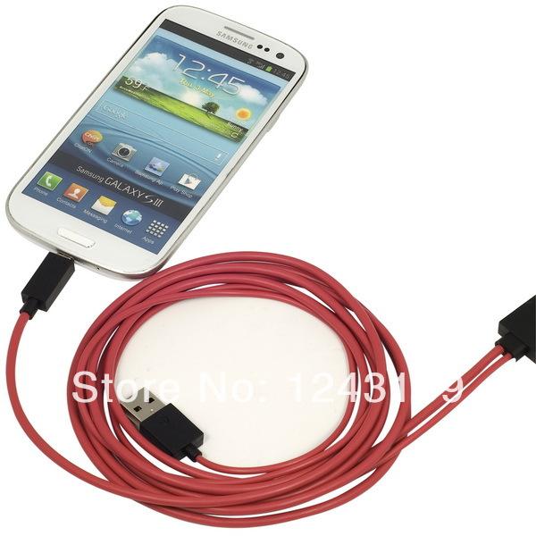 Xcsource MHL Mirco USB to HDMI HDTV Adapter for Samsung Galaxy S3 I9308 Note 2 N7100 AC074(China (Mainland))