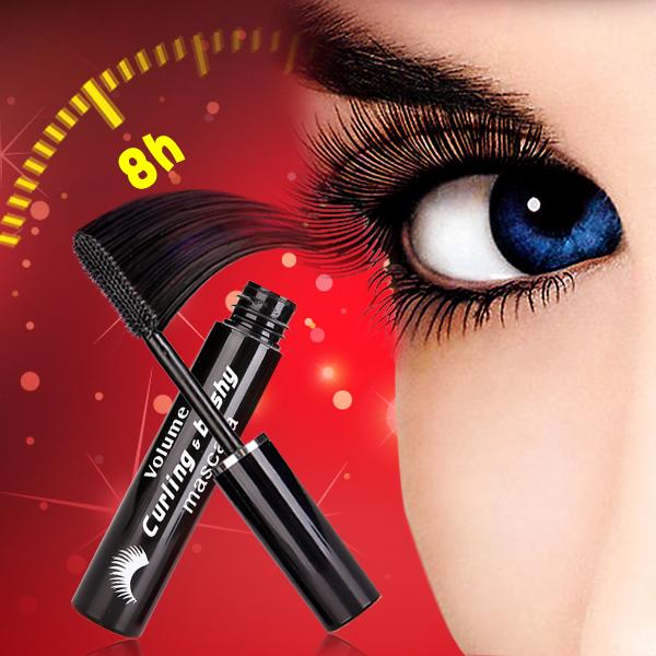 vecolor Mascara slender dense waterproof post free friction warped black curl anti blooming warm water may be discharged(China (Mainland))