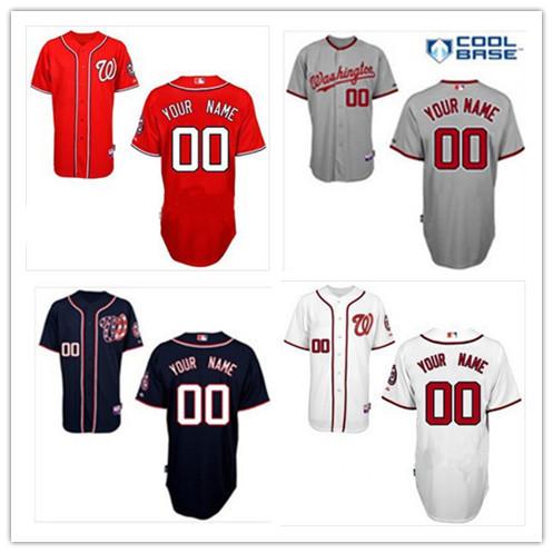 Cheap 2014 Men's Baseball Jersey Washington Nationals Personalized Customized Cool Base Jersey,Embroidery Logos Size:48-56(China (Mainland))
