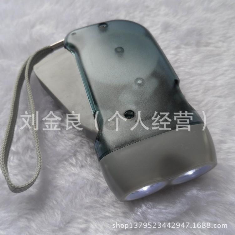 Wholesale transparent hand press flashlight green hand pinching flashlight self-generating flashlight(China (Mainland))