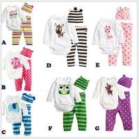 Korean cotton jumpsuit baby comfortable seven-color three-piece dress new fashion trade wholesale cartoon Romper