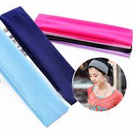 Women Lady Yoga Terylene Elastic Hairband Headband Sport Soft Fashion Hair Band 10pcs/set