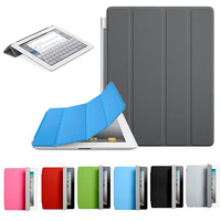 100pcs/lot Ultra Thin Magnetic Leather Smart Cover Case for iPad air for ipad 6 Top Cover retail box Free ship dhl