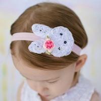 Easter Bunny Headband Baby Headband Shabby Headband Toddler Girl Rabbit(Shipping time within 24 hours)
