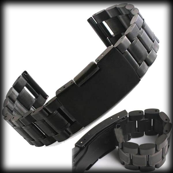 Por dhl ou ems 200 pcs preto 18 mm 20 mm 22 mm malha de aço inoxidável pulseira substituição da correia de relógio de pulso banda(China (Mainland))