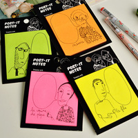 Memo  Pad. New cartoon colorful  Notepad ,Label / message post ,Wholesale, free shipping (tt-3046)