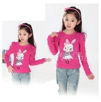 2015 New Design Children's T-shirts 2015 Female Child Long-Sleeve T-shirt Children Basic Shirt Fashion child Top