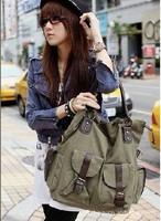 2015 New Fashion women large capacity handbags Canvas Shoulder bag multi pocket messenger bags
