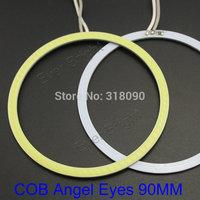 COB Angel Eyes 90mm!! 2Pieces(1pair) Auto Halo Rings COB 90MM Angel Eye Car Headlight Motorcycle White Super Bright 12V Led