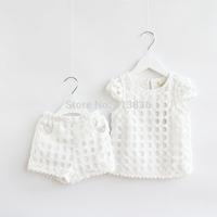 new baby Girls summer sets for children tops + shorts  BB406TS-55