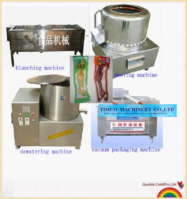 Chicken Feet Peeling Process machine(China (Mainland))