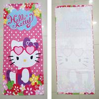 3PCS/lot New New 2015 Microfiber Baby Towel Brushed Baby Bath Kids Cartoon Printing Soft hellokitty Towels Free Shipping DA621
