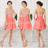 2015 Summer Fashion Short Cocktail Party Dresses Sequin Cocktail Dress Women Mini Prom Dresses Vestidos De Festa Beadings CL7530