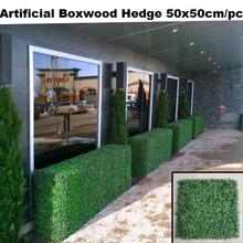 De hedge buxo artificial 12 pcs coberturas de plástico 50 x 50 cm / pc falso plantas de buxo buxo falso verdura painel AH040603(China (Mainland))