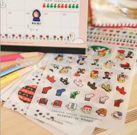 Decor Sticker. Cartoon cute owl design sticker,gift Office material school supplies, free shipping (tt-1454)