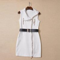 Women dress 2015 European and American Hitz Slim dress with belt zipper Slim Lady retro dresses