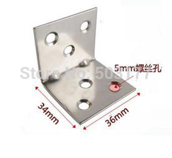 Stainless steel bracket furniture hardware fitting, right angle, corner brackets,Thickness: 1.2mm(China (Mainland))
