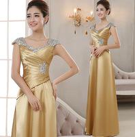Hot 2015 new fashion formal dress gold long design one shoulder evening dress