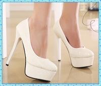 platform shoes women shoes fashion spring autumn ladies shoes woman girls pumps women shoes high heel white wedding shoes C906