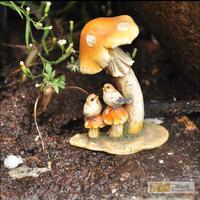 2015 New Deep Design garden decoration Home crafts  Resin Cartoon  Mushroom cute birds  home decor Office A436