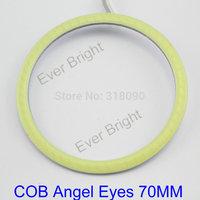 COB Angel Eyes 70mm!! 16Pieces(8pairs) Auto Halo Rings COB 70MM Angel Eye Car Headlight Motorcycle White Waterproof DRL