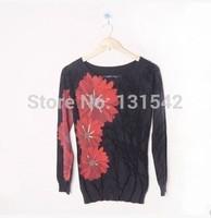 Women long sleeve printed sweaters