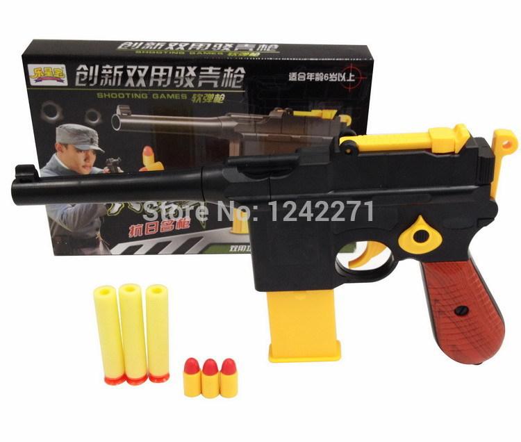 Classic Toys Mauser pistol Children's toy guns , Soft Bullet Gun plastic Revolver Kids Fun Outdoor game shooter safety(China (Mainland))