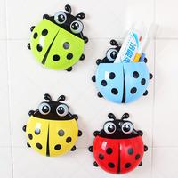 2015 New Arrival Storage Holders Fashion Cute Ladybug Wall Moounted Type Tooth Brush Holder Bathroom Shelf  Toothbrush box