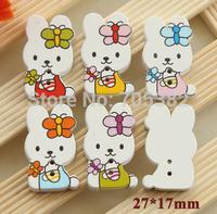 Wood Button. New rabbit  wooden buttons, scrapbooking, Wholesale wood button (ss-a4384-a412)