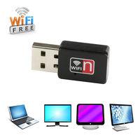 Wholesale 10Pcs/Lot Free Shipping 2015 150M Mini USB WiFi Wireless Lan Network Card Adapter For Laptop 802.11n/g/b Wifi Receiver
