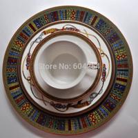 Free shipping 6-piece Continental porcelain dinner plate set household dinner set wedding present