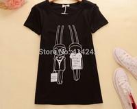 Summer new T-shirt Pure cotton short sleeve College girl half sleeve wind