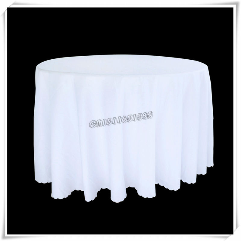 "Free Shipping 2PCS 90"" White Black The wedding banquet Hotel household solid round table cloth fabric simple modern tablecloth(China (Mainland))"