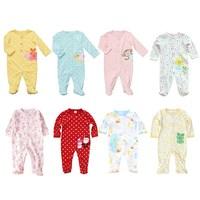4pieces/lot Footies Cotton Carters Original Baby Boy Girl Kids Body Para Bebe Clothing Roupas De Jumpsuit DA626
