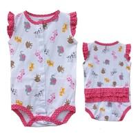 4 pieces/lot 100% Cotton Body Carters Original Bodysuit Sleeveless Newborn Baby Girls Boys Clothing Set Free Shipping DA625