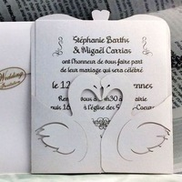 2015 new products White swan wedding invitations customized wedding invitation card