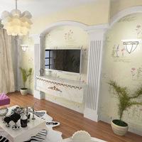 2015 Korean garden flowers 3D non-woven wallpaper living room bedroom backdrop