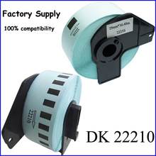 (Freeshipping) Adhesive Compatible Brother 29mm*30.48m Thermal Paper Dk Cartridge Tape DK2210