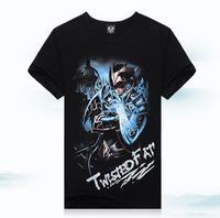 Foreign trade of men's 3D t-shirt men's cotton short sleeved T-shirt movement TX-LX7