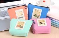Free ship!1 lot=12pc!Fashion classic stamps coin wallet / key bag/small bag/mini purse