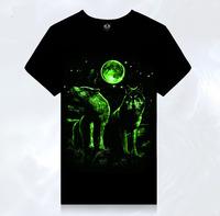 Men's creative movement short sleeved T - Shirt Mens 3D luminous T-shirt  TX-YG1