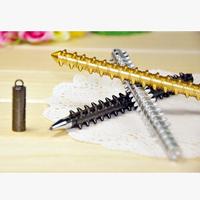Nice 240pcs/lot Black Refill Wolf Fangs Mace Gel Pen Children Prizes Gel-Ink Pen Stationery Office/School Supplies #GP302
