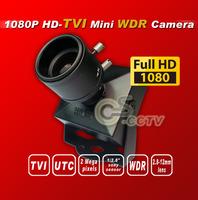 "HD TVI 1080P WDR Mini camera  1/2.8"" Panasonic 2.4Megapixel 2.8-12mm ZOOM digital security camera HD-TVI cctv camera TVI camera"