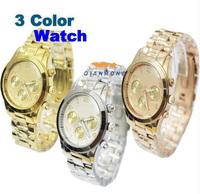 Big Brand Watch Japan Mov Stainless Steel Crystal Wrist Watch Men Women Quartz Watch High Quality 3 Color M-K1