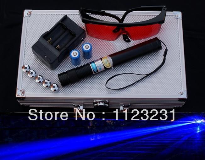 A+-High power blue laser flashlight 10000mw laser pen ignition sky star blue laser pointer 450nm(China (Mainland))
