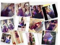 Casual dress Women Printed dress Fashion 2015 Summer Women's clothing  Pinched Waist Women Clothes sexy  stars dress